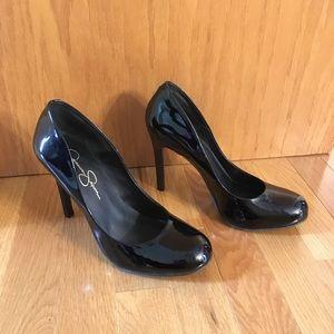 Black Patent Leather Style Heels